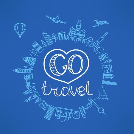 Go travel concept. vector illustration