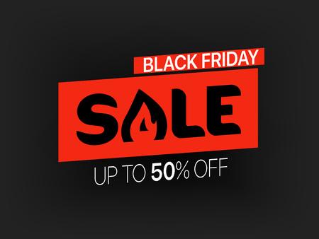 Black friday sale banner. Season sale vector offer