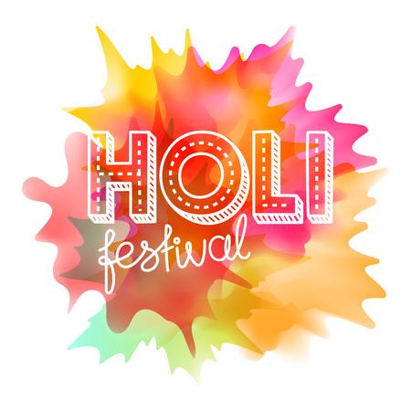 Holi festival vector concept. Indian holiday  Illustration