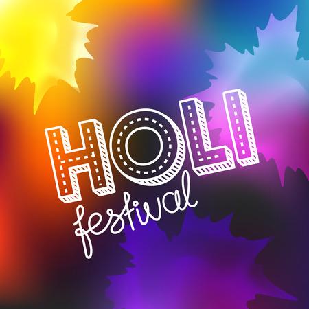 Holi festival vector concept. Happy holi vector elements for card design