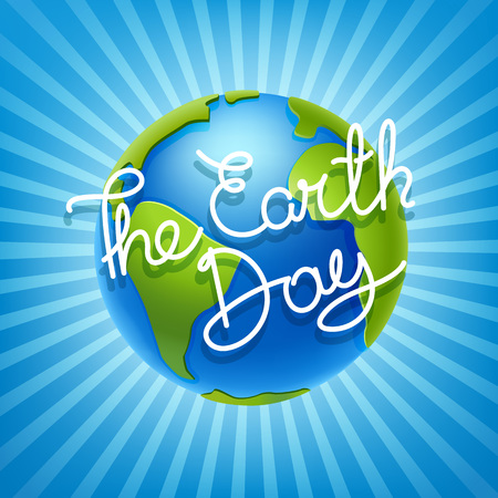 The Earth day concept. Vector illustration Illustration