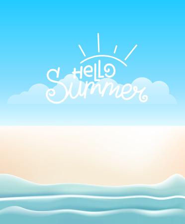 Travel concept. Summer beach vector illustration Illustration
