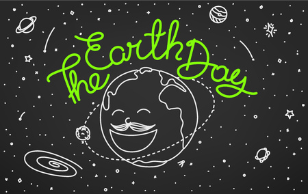 The Earth Day. Doodle style vector illustration