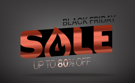 Black friday sale banner. Season sale vector offer. Up to 80 percent off