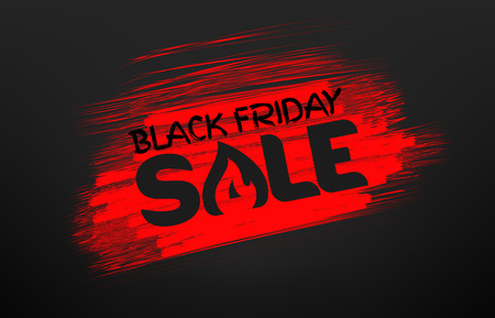 Black friday sale banner. Stencil effect vector illustration