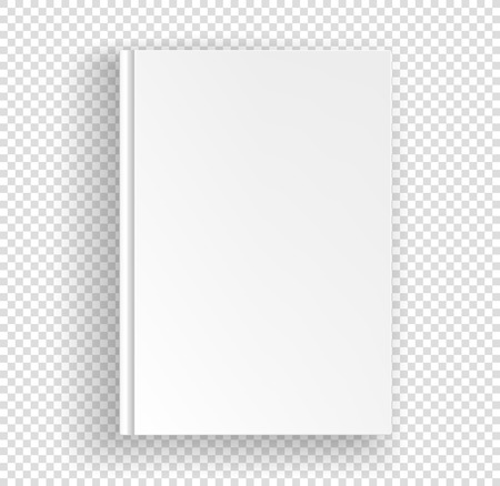 White book a4 format vector mock up isolated on transparent background. Closed book top view vector illustration Vektoros illusztráció
