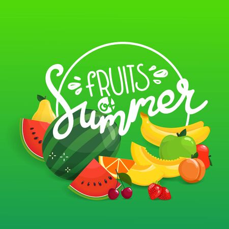 Fruits of summer vector concept
