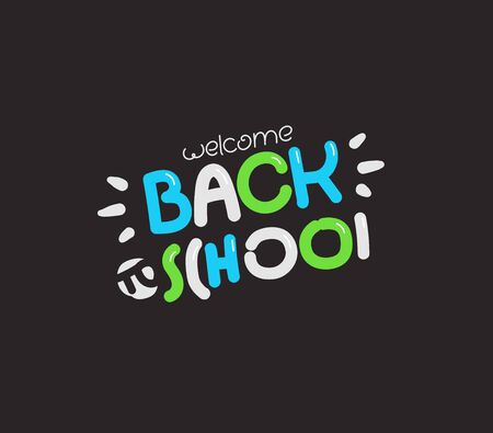 Back to school logo. Vector illustration