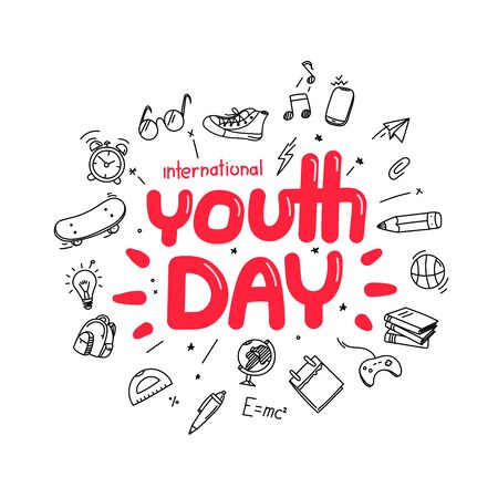The Youth Day greeting card template