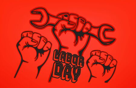 Happy labor day vector card