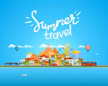 Around the world travelling concept with calligraphy