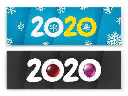 Happy new 2020 year vector concept