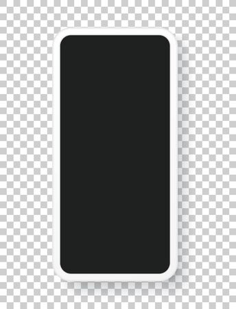 Modern mobile phone layered vector template