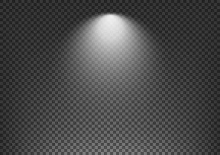 Spotlight effect on transparent background