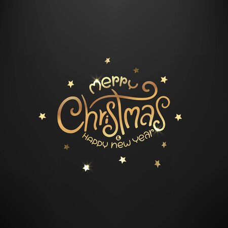 Merry Christmas and Happy new year luxury card