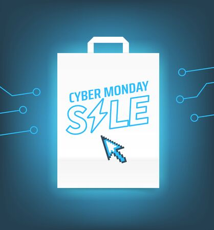 Cyber monday sale banner. Season offer concept