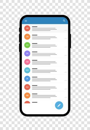 Smartphon templates vector mockup. Black and white devices. Template fof screenshots