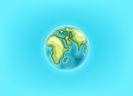 The Earth on blue background. Landing page vector template  일러스트