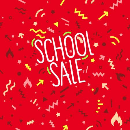 School sale banner design template
