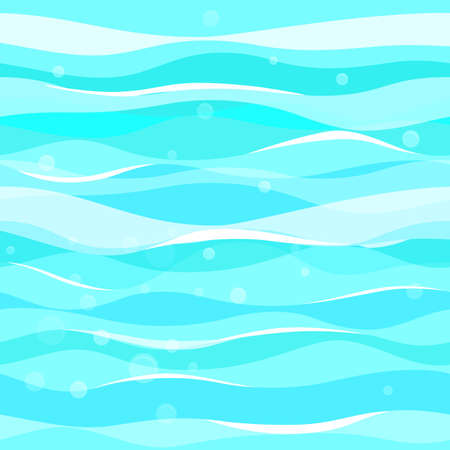 Abstract blue waves pattern. Seamless vector pattern Illusztráció