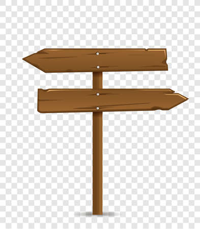Road destination wood board. Vector illustration Vektorové ilustrace
