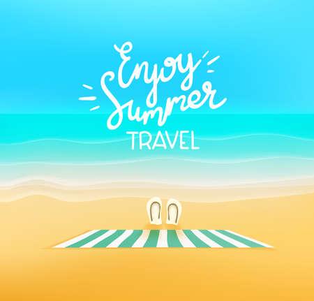 Enjoy summer travel. Beautiful landscape with empty beach