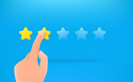 Two stars ranking. Man make a choice