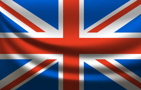 Great Britain waving flag. United Kingdom 向量圖像