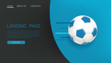 Soccer game banner with the ball. web gage template 向量圖像