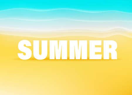 Summer banner with tropical landscape 向量圖像
