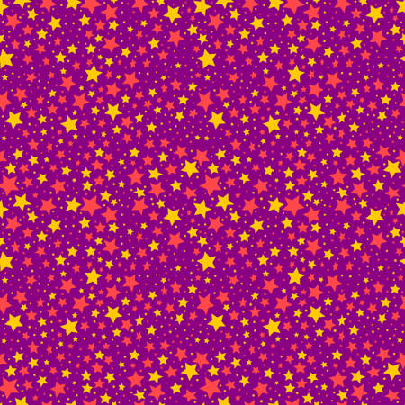 Seamless vector pattern with color stars