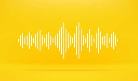 Sound wave vector illustration. Vector banner template