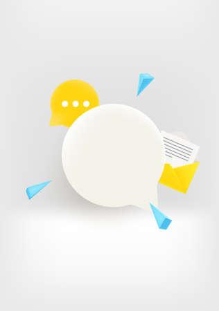 Communication concept. Speech cloud with copy space