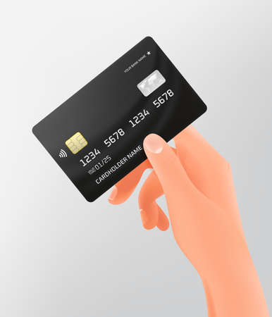 VIP card in a hand. Wireless payment concept