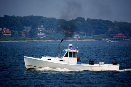 lobster boat: old lobster boat