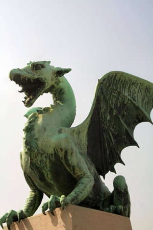 statue of a green dragon