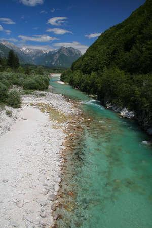 soca rivi�re en Slov�nie Banque d'images