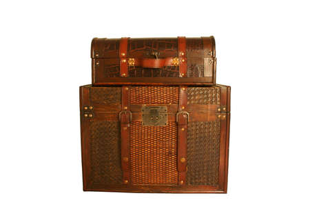 vintage trunk and suitcase Stock Photo