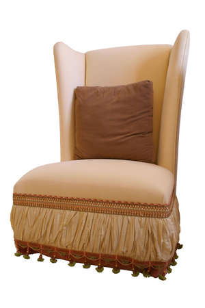 swoop: soft chair isolated Stock Photo