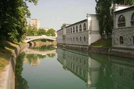 rivi�re � Ljubljana, en Slov�nie Banque d'images