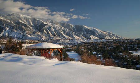 wasatch: mountain range with fresh snow Stock Photo