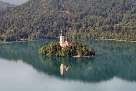 island at lake ble