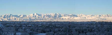 oquirrh mountain range in utah at sunrise Stock Photo