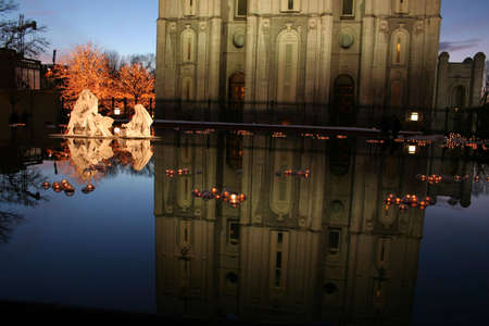 temple square christmas lights Stock Photo - 4257440