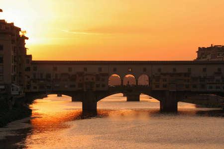 Ponte Vecchio, au coucher du soleil