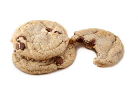 isolated cookies Stock Photo