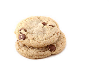 isolated chocolate chip cookie Stock Photo