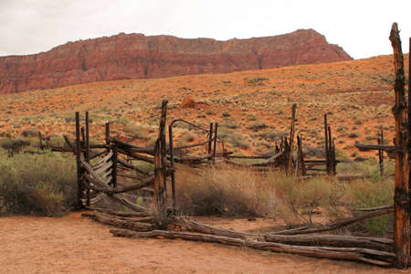 corral: old corral Stock Photo