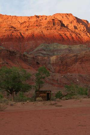 old cabin in the desert