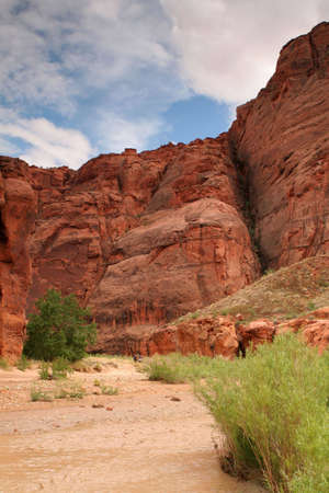 red rock cliffs in southern Utah Stock Photo